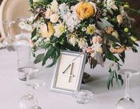 Elegant decor for Golden wedding. Botanica decor.