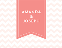 Amanda & Joseph Wedding Invitations