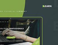 Learn E-Learning Website Design