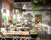 "Project of ""GARDEN"" restaurant in Melbourne"