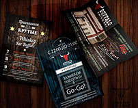 Design of leaflets and flyers in bars