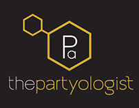 The Partyologist branding and logo design