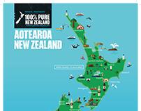 Tourism New Zealand Map