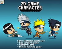 Shinobi Pack Game Character Sprite