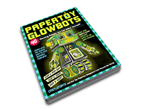 Papertoy Glowbots Book by Castleforte