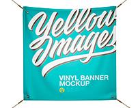 Matte Vinyl Banner Mockup - Front View