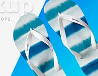Free Realistic Flip Flop Mockup PSD