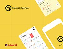 Honest Calendar UI UX - Daily Creative Challenge