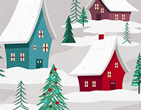 Wayfair Holiday Illustrations