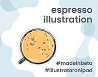 Espresso Illustration - Poster Print Design
