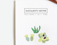 Succulents Illustration & Clip Art Vectors