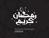 Ramadan Kareem Typography Free Download