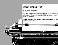 Typewriter Error