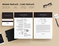 Pack Resume and Card Template / Free Coverletter