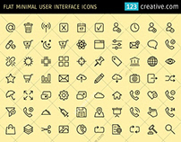 Flat Minimal User Interface icons (EPS, PNG, SVG)