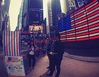 Happy Vote in Times Square