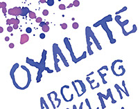 Found Object Typeface Oxalate