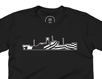 Dazzle camouflage t-shirt design at Cotton Bureau