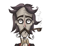 Character for 2D game in style of Tim Berton