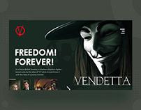 V for Vendetta - Web Design