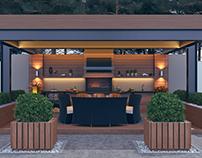Outdoor Kitchen & BBQ Island