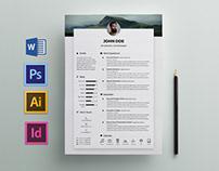 Free Elegant Resume / CV Template for Any Job