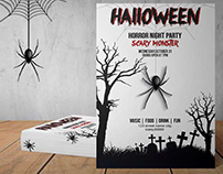 Printable Halloween Party Flyer Template