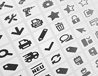 90 ICONS for an online shop
