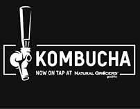On Tap Kombucha materials for Natural Grocers.