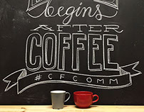 Coffee Break - Chalk Wall Lettering