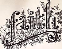 """""""Faith"""" Lettering"""