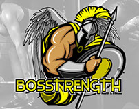 Logo Design: BosStrength Health & Fitness