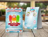 Ice Cream Table Tent Template Vol.3
