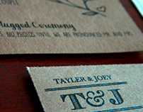 Tayler + Joey // Wedding Invite Design