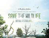 Save The Wildlife - Flyer/Poster