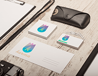 Logo and corporate identity for a yoga studio