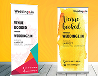 Roll Up Standee Designs for Weddingz.in