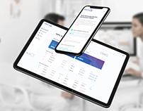 Health UX/UI platform design for Med-Q