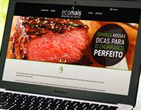 Design de website para Briquetes de Carvão Ecomais