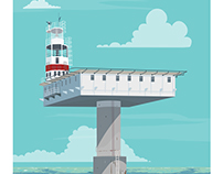 Royal Sovereign Lighthouse Giclee print