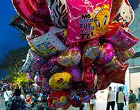 Morelos Street in Valentine's Day