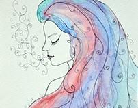 Watercolor & Linework Studies