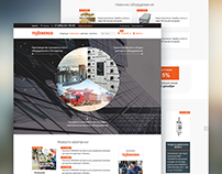 Electrical engineering company homepage design