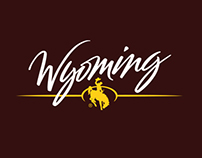 Brush hand lettering for Wyoming Tourism logo