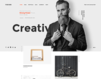 FURION – Creative PSD Template