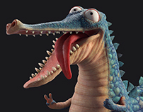 BRUT the Crocodile - Character design