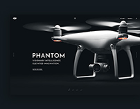 Dji Phantom Website Concept