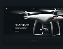 Dji Phantom Website Concept