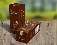 "Branding project for fictional brand ""Leef Tea"""