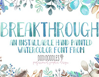 Breakthrough Watercolor Font